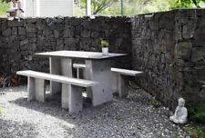 Granit-Sitzgruppe 3-tlg - Gartenmöbel - Sitzgarnitur - Gartengarnitur