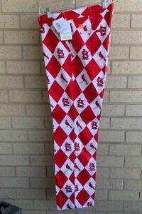 Loudmouth MLB St. Louis Cardinals Argyle Red/White/Bird Pants - Size 36 X 34
