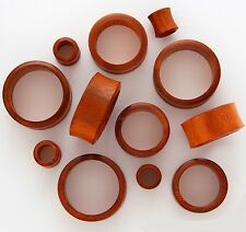 "1 Pair 7/8"" 22mm Brown Chang Organic Natural Wood Tunnels Ear Plugs Gauges 435"