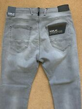 """REPLAY Men's HYPERFREE Jogging Stretch Grey Jeans, Size W32"""", L31"""", £145"""