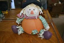Sitting Fall/Thanksgiving fat stuffed scarecrow - Fb3