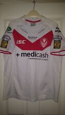 Mens Rugby League Shirt - St Helens - ISC - Home 2011-2012 - White - Size M