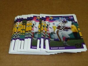 2017 Panini Donruss RANDY MOSS BASE LOT OF 50 CARDS VIKINGS #60