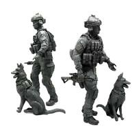1 X 1:35 Modern American Special Forces and Military Dogs Resin Soldier Model