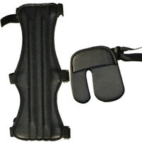 Outdoor Leather Arm Finger Guard Protective Gear Right Recurve Archery Hunting