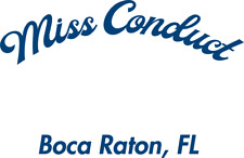 2 Custom Boat Name decals: Miss Conduct