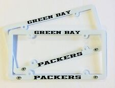 2 GREEN BAY PACKERS Low Profile License Plate Frame Auto Truck NEW - FREE SHIP