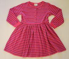 Hanna Andersson Playdress Day Dress Pink Purple Stripe Girl 130 7 8 9 10 yrs GUC