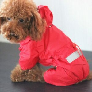 Dog Raincoat Pet Rain Coat Waterproof Reflective Hooded Reflective Dogs Clothes