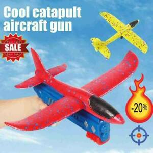 Airplane Launcher Toy Catapult Plane Gun Outside Flying Launcher Toy Xmas Gift