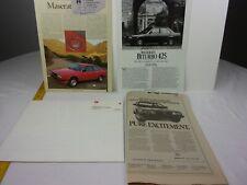 Maserati Quattroporte 1984 catalog newspaper advertisements lot brochure M32