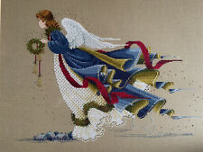 """Completed Lavender And Lace Cross Stitch Picture """"Angel Of Freedom� Christmas"""