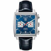 Tag Heuer CAW2111.FC6183 Monaco Men's Chronograph Automatic Black Leather Watch