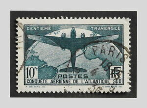 FRANCE 1936 - YT 321 TRAVERSÉE DE L'ATLANTIQUE SUD - OBLITÉRÉ