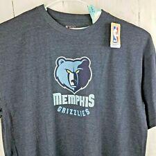 Memphis Grizzlies NBA T Shirt Bear Screen Print Heather Tee Navy & Blue Logo 5XL