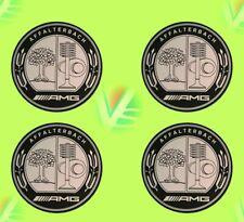 4 autocollants stickers MERCEDES AMG chrome 40 à 100 MM pour centre de jantes