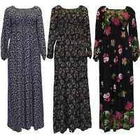 New Ladies Long Floral Cotton Maxi Dress Muslim Boutique Style Fashion Islamic