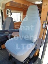 TO FIT A PEUGEOT BOXER MOTORHOME, 2014, SEAT COVERS, REGGIE BLUE, 2 FRONTS