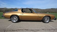 1977 Chevrolet Camaro Z28 gold t-tops | 24 x 36 INCH POSTER  | sports car