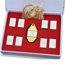 Cosplay Digimon Adventure Tags & Crest Emblem Necklace 9PCS set & Box