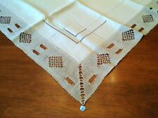 Nwt-Antique/Vintage Linen Hand Made Needle Lace Belgium/Belge Tablecloth-Unused