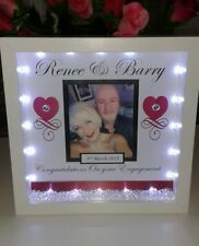 Personalised engagement, wedding or anniversary gift with crystals and lights
