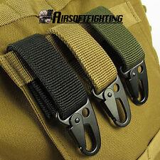 MOLLE webbing buckle EDC Tool Outdoor Camping D-carabiner key hook Hunting