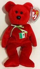 """TY Beanie Babies """"OSITO"""" the Mexico Flag Teddy Bear - MWMTs! PERFECT GIFT! MINT!"""