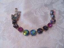 Betsey Johnson Butterfly Blitz Multi Color Crystal Flex Bracelet NWT 45% Off