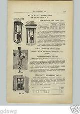 1910 PAPER AD EG Electric Arrester Circuit Breaker Knife Type Magneto Tester