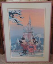 TOKYO DISNEYLAND CHARLES BOYER SIGNED 1980's LIMITED EDITION FRAMED LITHOGRAPH
