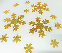FLOCON NEIGE GLITTER OR thermocollant ETOILE NEIGE hotfix 3X 6.5cm + 10 X 1.6cm