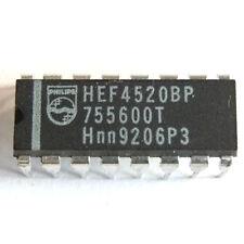 HEF4520BP IC, Dual Binary Counter, DIP 16, Philips
