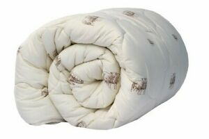 Comforter Sheep Wool Duvet Quilt, All season, warm 300 GSM, Twin/Double/King