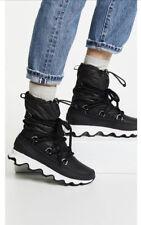 Sorel Kinetic Winter Boot Womens Nylon Waterproof Long Black Size UK 6 EUR 39