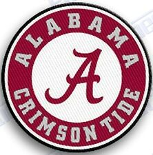 ALABAMA CRIMSON TIDE iron on embroidered PATCH COLLEGE UNIVERSITY ROLL TIDE ROLL