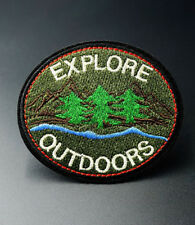 Explore Outdoors Embroidered Applique Patch Iron On / Sew On Clothing Patches