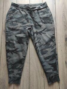Men's Ralph Lauren Polo Grey Camouflage Cotton Track Bottoms Size L W34 L25