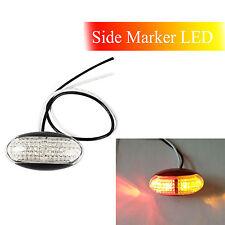 1pcs Red Amber LED Side Marker Tail Light Caravan Trailer Truck Lamp Bus  12/24V