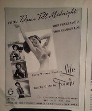 1940s Womens Life Bra by Formfit Dawn till Midnight Original Ad