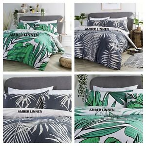 New Tropical Jungle Leaf duvet Cover Quilt Bedding Set With Pillowcases All Size