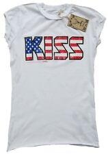 Rare amplified Kiss estados unidos Stars Stripes túnica estrella de rock vintage t-shirt G. XL 44