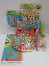 SPONGEBOB BUDDIES BIRTHDAY PARTY SET 8 PACKAGES - PARTY SUPPLIES PLATES CUPS ETC
