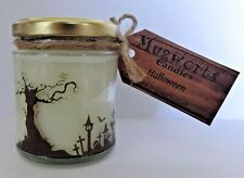 Halloween design, Scented Jar Candle, Soy Wax, gift, Pagan, Wicca, Samhain, Goth
