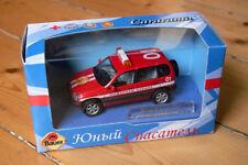LADA Niva-Chevrolet Feuerwehr 1:43 / Bauer Autobahn Cararama / USSR UdSSR CCCP