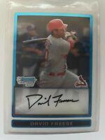 David Freese 2009 Bowman Chrome Prospects #BCP38 St. Louis Cardinals RC