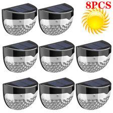 6 LED OUTDOOR WATERPROOF SOLAR POWERED WIRELESS WALL FENCE LIGHTS GARDEN PATIO