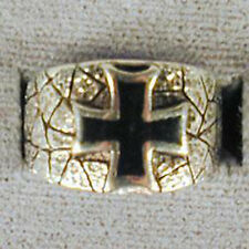 1 DELUXE IRON CROSS BAND SILVER BIKER RING BR93 mens NEW jewelry RINGS CHOPPERS