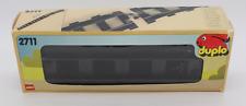 LEGO duplo 2711 4 x droit Rails noir Voie ferrée Locomotive