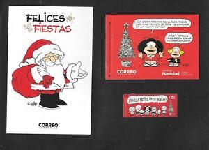 Argentina 2017 Mafalda Christmas Complete SET Booklet + Stamp + Postcard